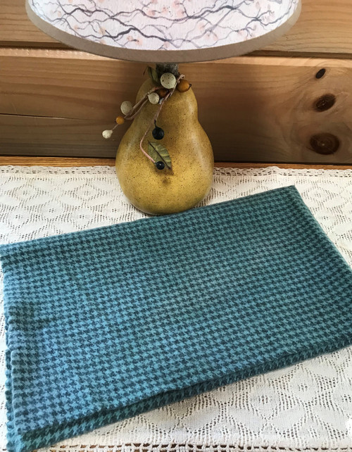 Spa Blue on Gray Houndstooth