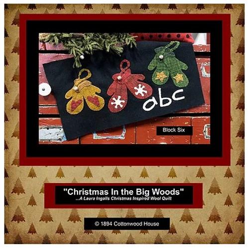 Christmas in the Big Woods - Block 6, Warm Woolen Mittens