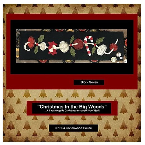 Christmas in the Big Woods - Block 7, The Button String Wool Kit