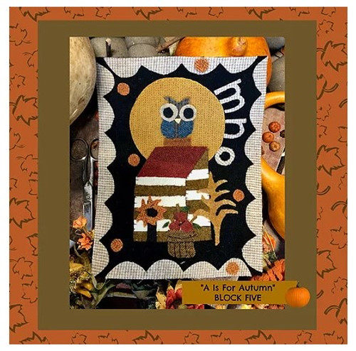 Autumn Alphabet Wool Quilt - Block 5, MNO
