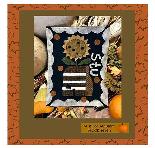 Autumn Alphabet Wool Quilt - Block 7, STU