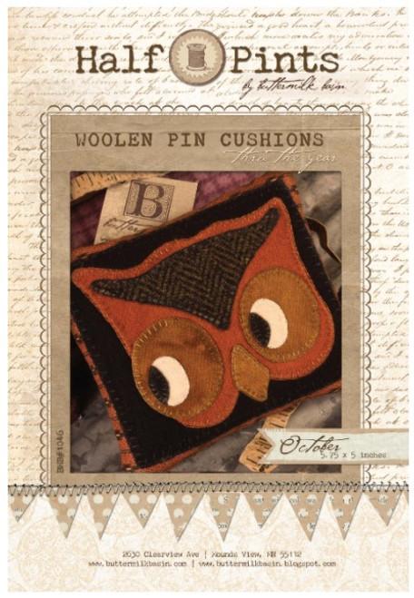 Half Pint Woolen Pincushion - October