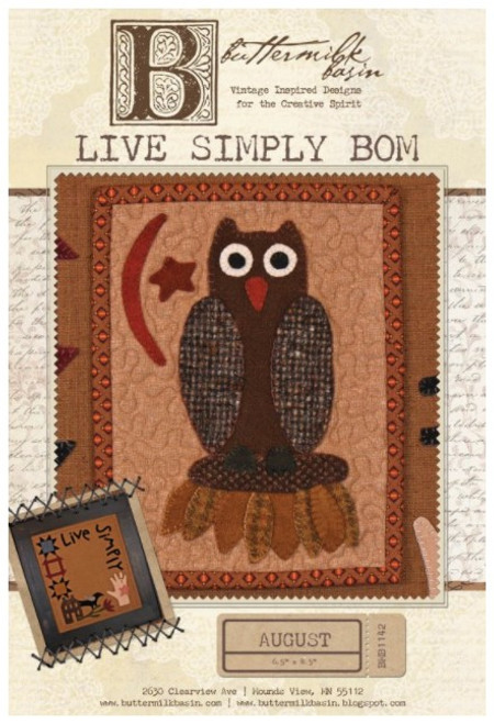 Live Simply Mini Quilt - August