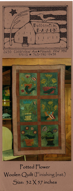 Potted Flower Woolen Quilt - Rare, No Longer in Print