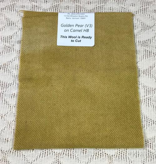 Golden Pear (V3) on Camel Herringbone