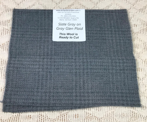 Slate Gray on Gray Glen Plaid