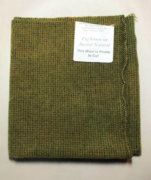 Fig Green on Seeded Natural  - Fat 1/8th Yard