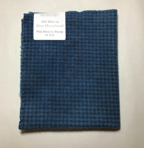 Old Blue on Gray Houndstooth - Fat 1/16th Yard