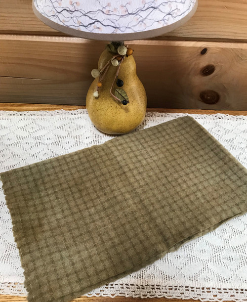 Khaki on Small Beige Windowpane