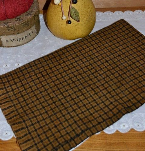 Maple Candy on Black and Loden Windowpane