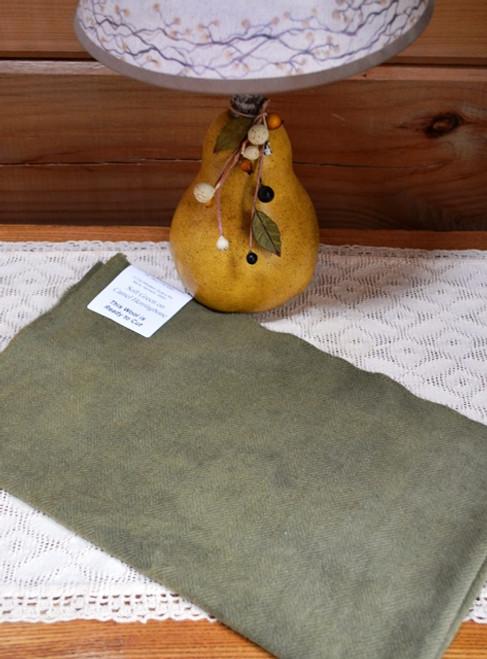 Soft Green on Camel Herringbone