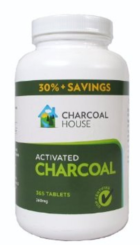 Charcoal House Activated Charcoal Tablets 365 tabs