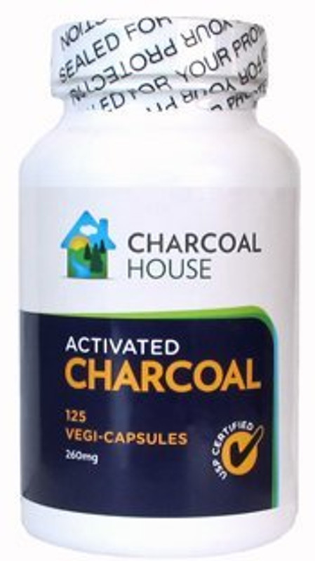 Charcoal House Activated Charcoal Vegi-capsules 125