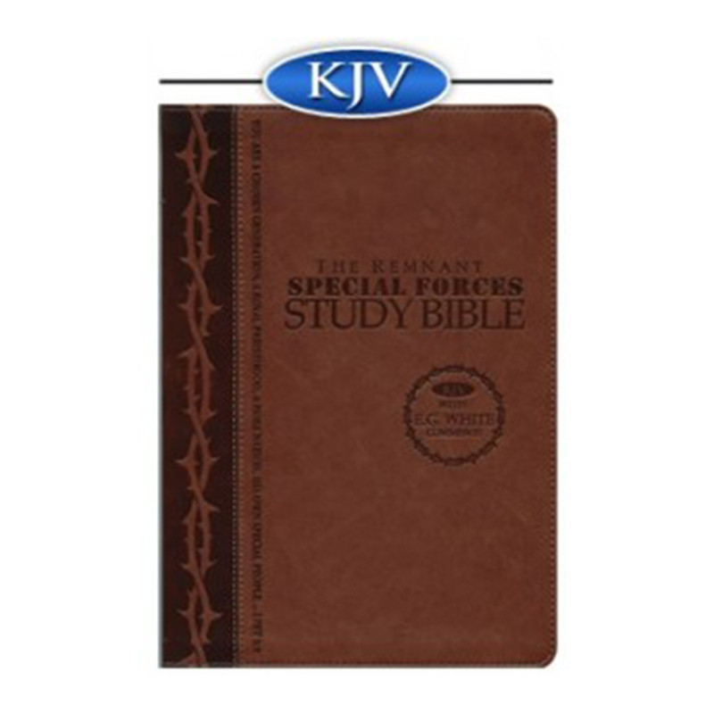 The Remnant Study Bible KJV- Special Forces Brown Leathersoft