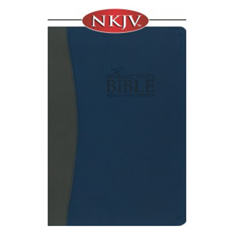 The Remnant Study Bible NKJV- Blue & Gray Leathersoft