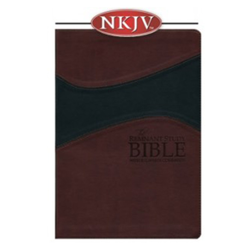 The Remnant Study Bible NKJV- Burgundy/Black Leathersoft