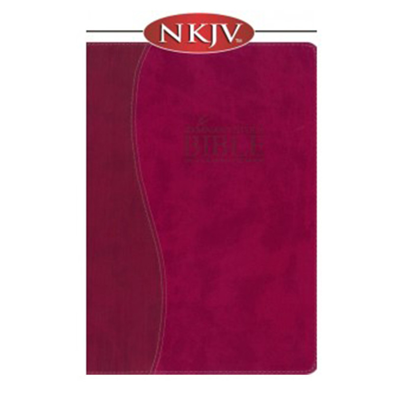 The Remnant Study Bible NKJV- Raspberry Leathersoft