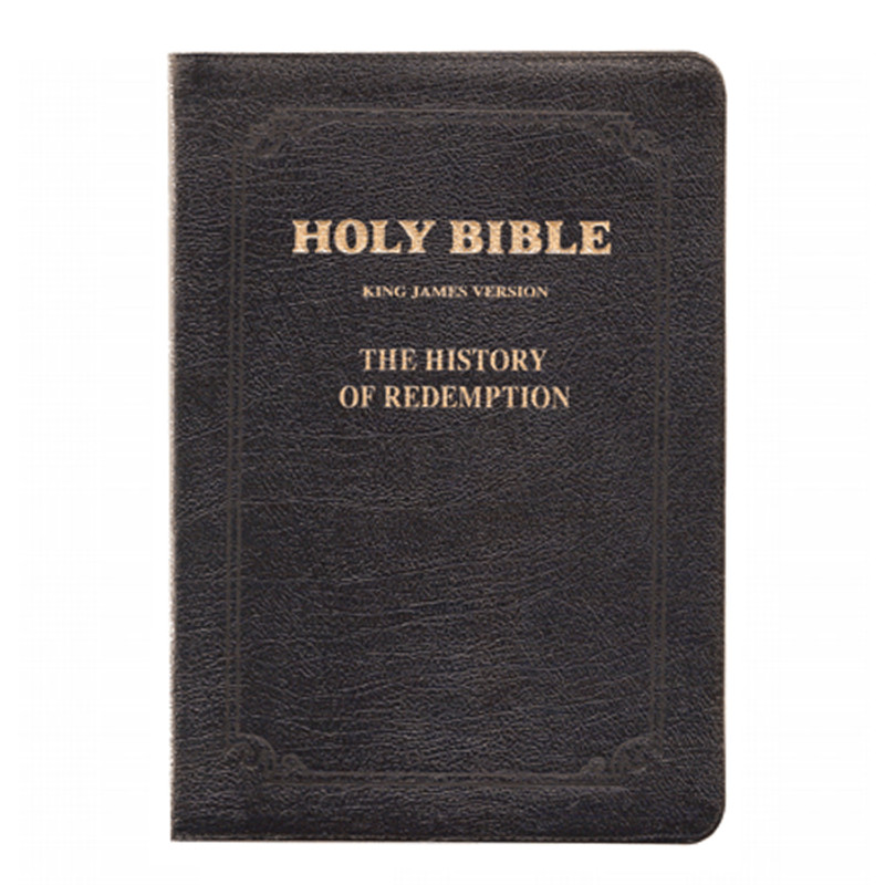 The History of Redemption Bible- KJV Genuine Leather with Zipper