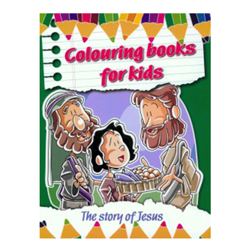 Coloring Books for Kids- The Story Of Jesus