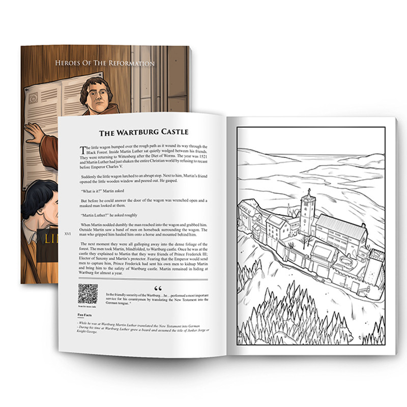 Lineage Journey Educational Coloring Book- Heroes of The Reformation