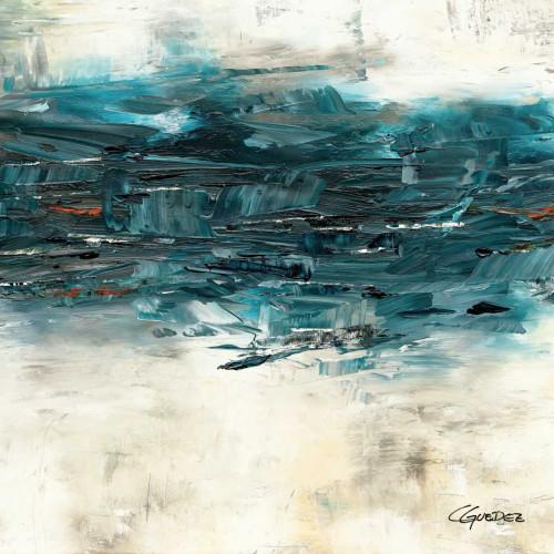 Guedez Carmen Alta marea I Astratto cm89X89 Immagine su CARTA TELA PANNELLO CORNICE Quadrata