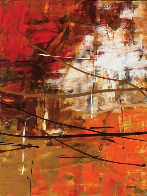 Guedez Carmen Funtastic II Astratto cm98X75 Immagine su CARTA TELA PANNELLO CORNICE Verticale