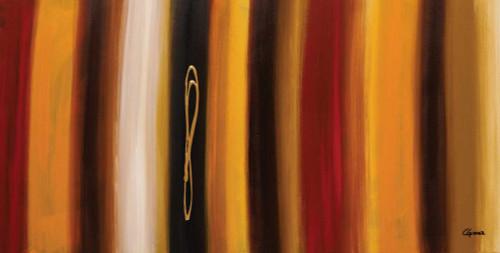 Guedez Carmen golden Hour Astratto cm73X144 Immagine su CARTA TELA PANNELLO CORNICE Orizzontale