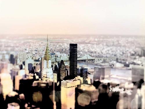 Telik Tracey pastello Skyline fotografia cm84X111 Immagine su CARTA TELA PANNELLO CORNICE Orizzontale
