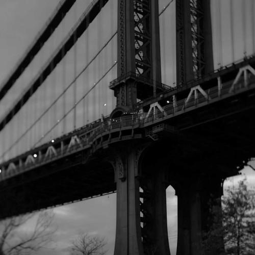 Telik Tracey Manhattan Bridge 2 fotografia cm73X73 Immagine su CARTA TELA PANNELLO CORNICE Quadrata