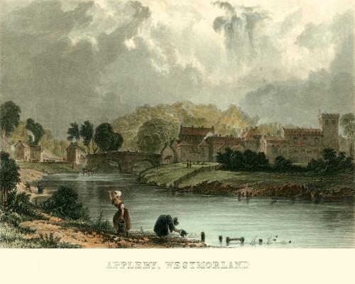 Allom T. Appleby, Westmoreland europeo cm36X45 Immagine su CARTA TELA PANNELLO CORNICE Orizzontale