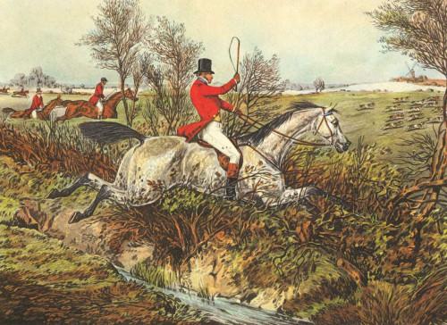 Henry Alken L'inglese Hunt I Animali & Natura cm36X50 Immagine su CARTA TELA PANNELLO CORNICE Orizzontale