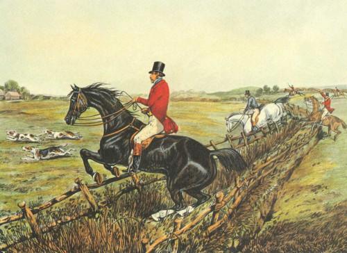 Henry Alken L'inglese Hunt IV Animali & Natura cm36X50 Immagine su CARTA TELA PANNELLO CORNICE Orizzontale