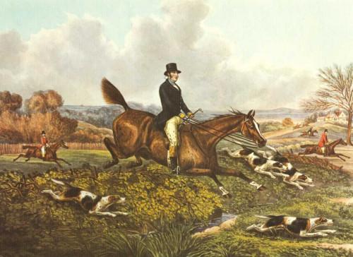 Henry Alken L'inglese Hunt VII Animali & Natura cm36X50 Immagine su CARTA TELA PANNELLO CORNICE Orizzontale