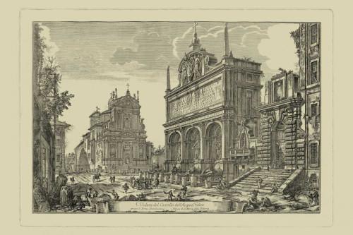 Piranesi Piranesi Veduta di Roma III Paesaggio cm54X82 Immagine su CARTA TELA PANNELLO CORNICE Orizzontale