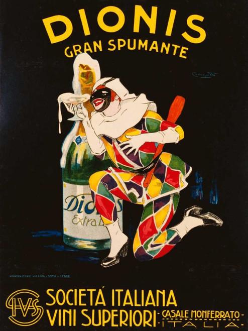 Codognato Plinio Dionis 1928 Vintage ? cm111X84 Immagine su CARTA TELA PANNELLO CORNICE Verticale