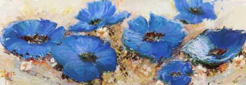 Florio Luigi Fiori di marzo Floreale cm70X205 Immagine su CARTA TELA PANNELLO CORNICE Orizzontale