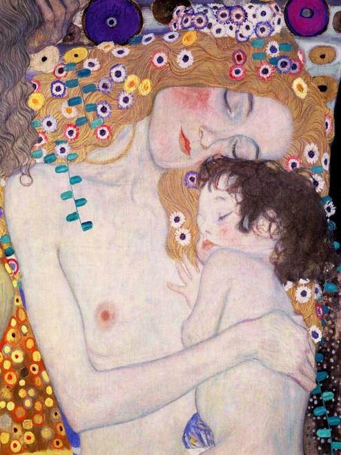 Klimt Gustav Le Tre eta della donna Figurativo cm111X84 Immagine su CARTA TELA PANNELLO CORNICE Verticale
