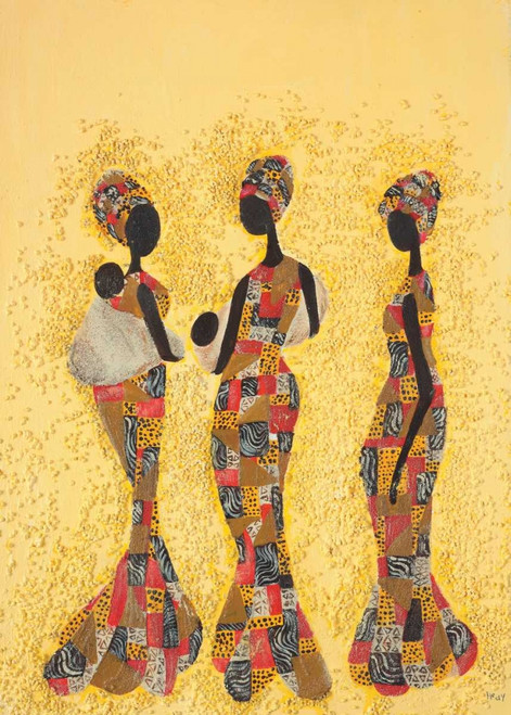 Hedy bellezze africane africano cm125X89 Immagine su CARTA TELA PANNELLO CORNICE Verticale