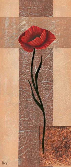 Hedy creazione I Floreale cm128X54 Immagine su CARTA TELA PANNELLO CORNICE Verticale
