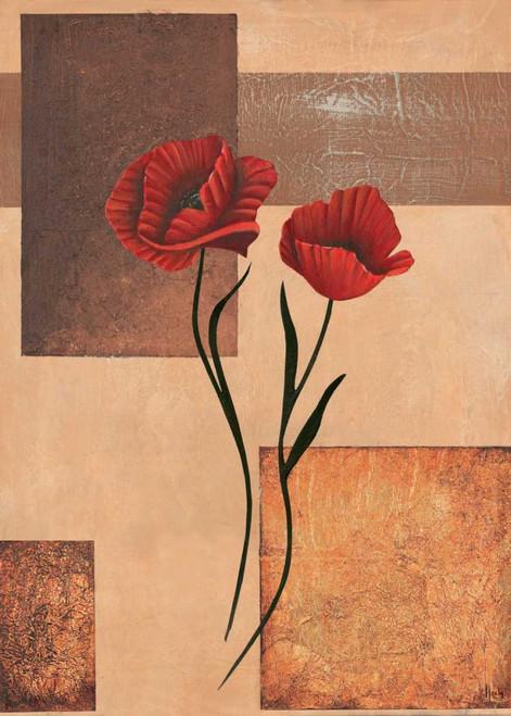 Hedy creazione II Floreale cm102X73 Immagine su CARTA TELA PANNELLO CORNICE Verticale