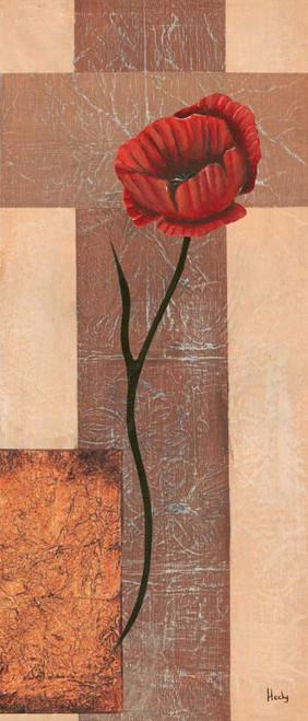 Hedy creazione III Floreale cm128X54 Immagine su CARTA TELA PANNELLO CORNICE Verticale