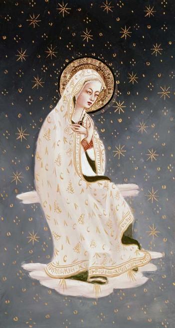 Angelico F. Madonna della Pace Figurativo cm109X57 Immagine su CARTA TELA PANNELLO CORNICE Verticale