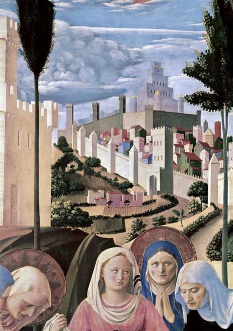 Angelico F. Deposizione   Particolare 3 Paesaggio cm96X66 Immagine su CARTA TELA PANNELLO CORNICE Verticale