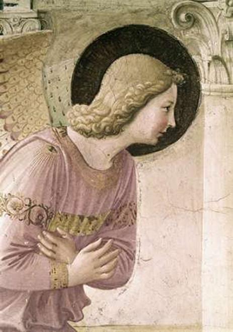 Angelico F. Annunciazione   Particolare 3 museo cm96X68 Immagine su CARTA TELA PANNELLO CORNICE Verticale