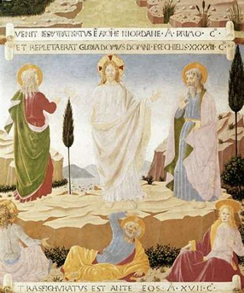 Angelico F. Trasfigurazione museo cm96X80 Immagine su CARTA TELA PANNELLO CORNICE Verticale