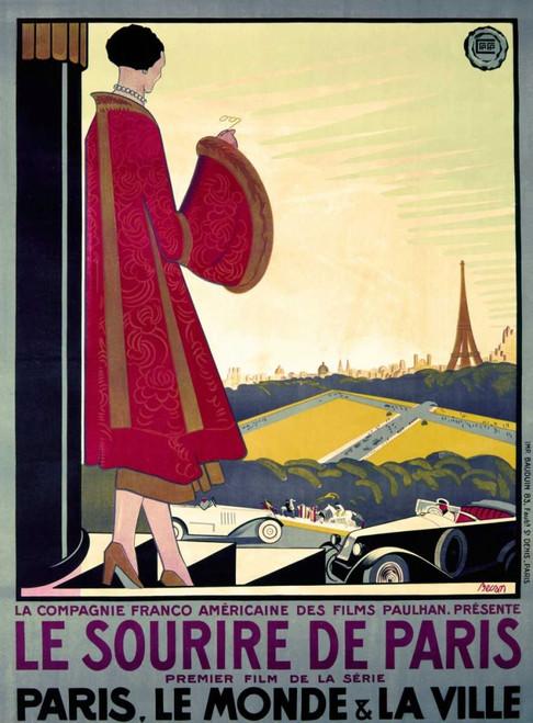 Becan Bernard Il sorriso di Parigi europeo cm106X78 Immagine su CARTA TELA PANNELLO CORNICE Verticale