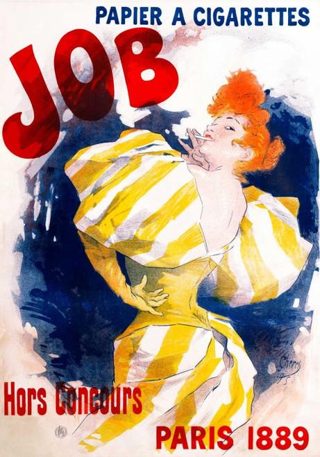 Cheret Jules Lavoro / Papier a Cigarettes Vintage ? cm115X80 Immagine su CARTA TELA PANNELLO CORNICE Verticale