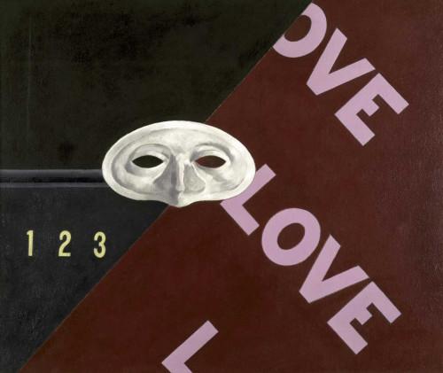 Demuth Charles Amore amore amore segni cm73X86 Immagine su CARTA TELA PANNELLO CORNICE Orizzontale