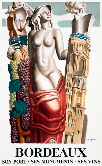 Dupas Jean bordò Cibo cm118X73 Immagine su CARTA TELA PANNELLO CORNICE Verticale