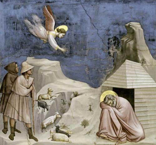 Giotto Josephs sogno Animali cm77X82 Immagine su CARTA TELA PANNELLO CORNICE Orizzontale